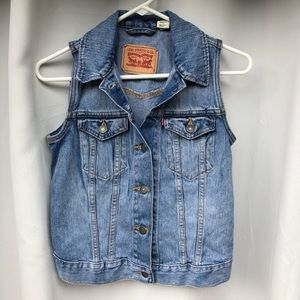 Levi's Denim Cropped Vest